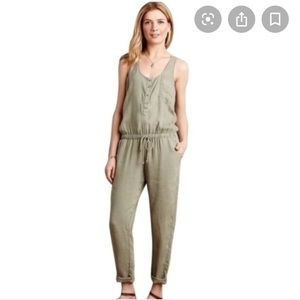 ANTHRO CLOTH AND STONE olive green jumpsuit S